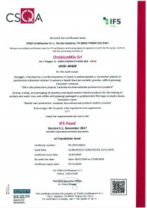 Certificato IFS